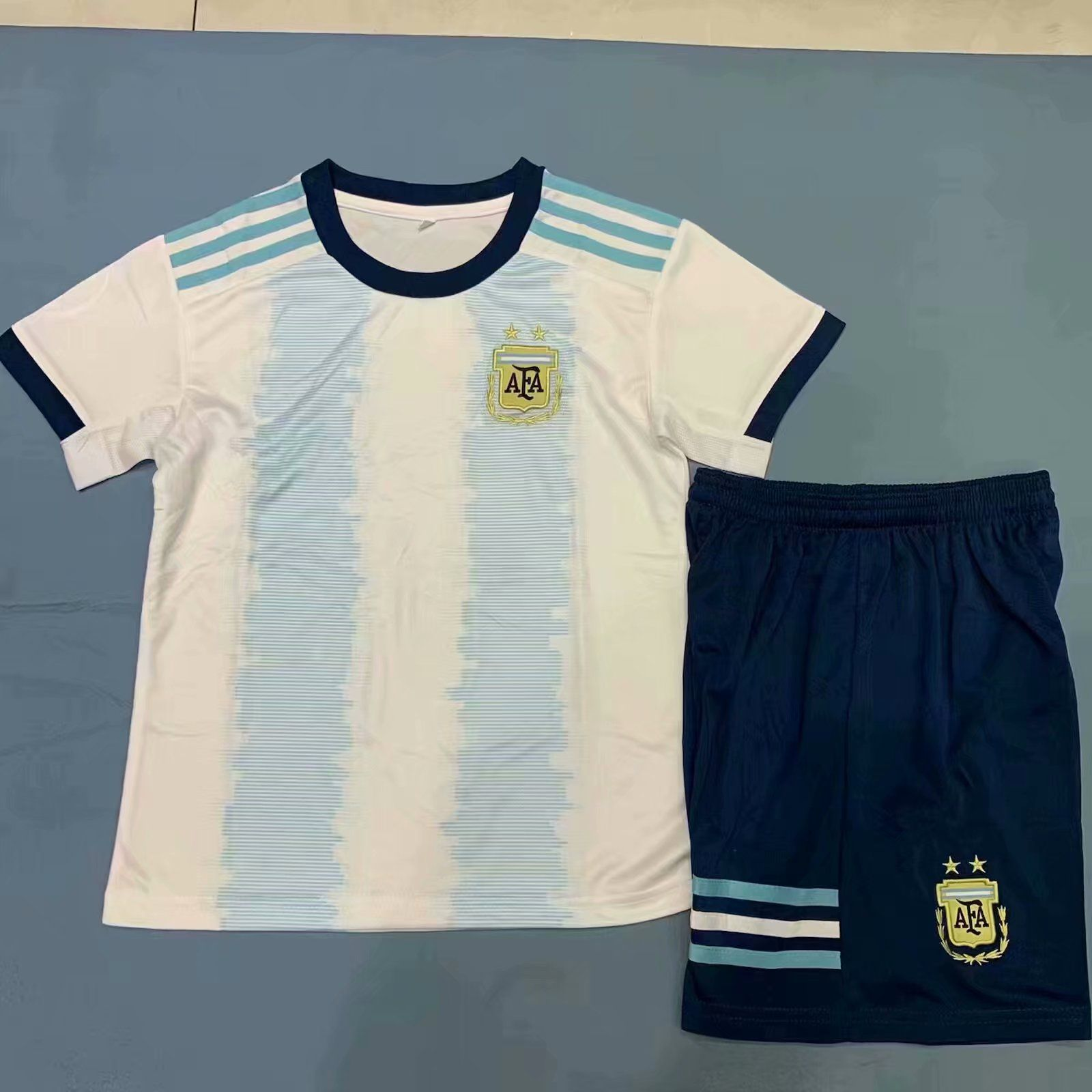 201920 kids argentina copa home soccer jersey uniforms in