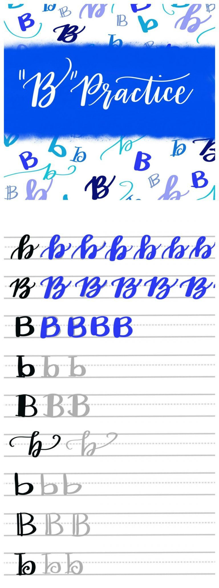 Free Practice Sheets 9 Different Ways To Hand Letter A B Lettering Practice Lettering Hand Lettering Practice [ 2057 x 768 Pixel ]