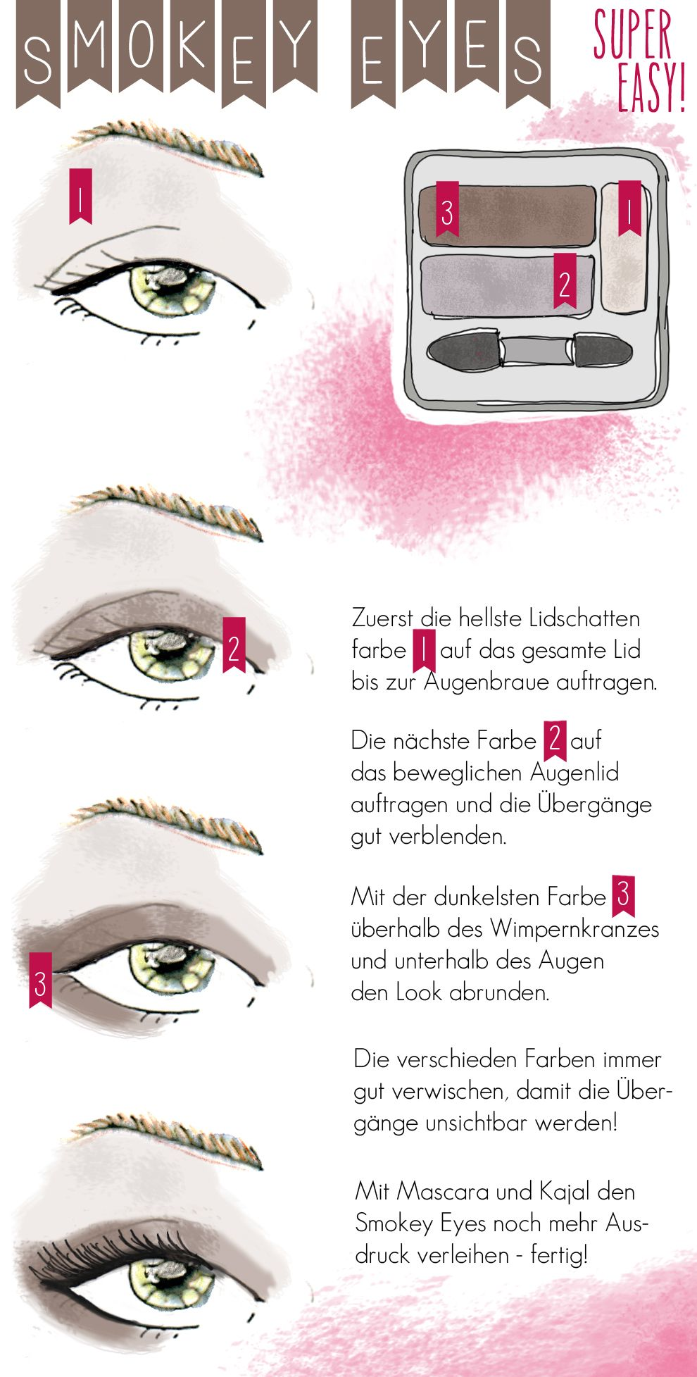 anleitung f r smokey eyes make up tutorial hochzeit pinterest makeup anleitung auge und. Black Bedroom Furniture Sets. Home Design Ideas