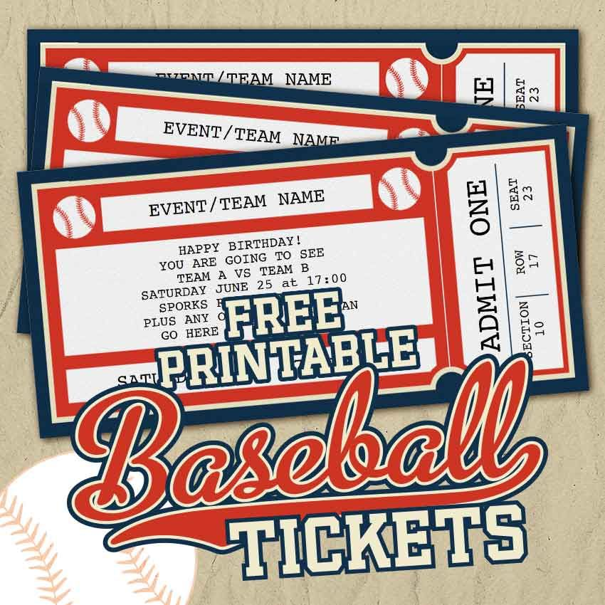 Free Printable Baseball Tickets - Free Printables Online