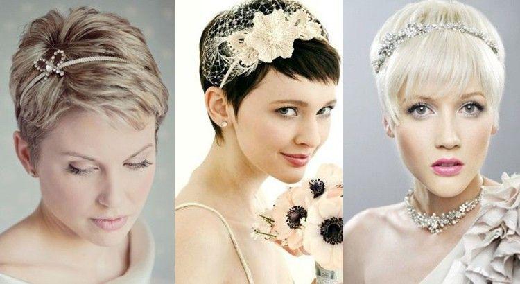 Cheveux courts les 35 plus belles coiffures de mariée