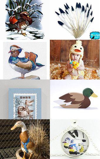 73. mandarin ducks by lady lovely on Etsy--Pinned with TreasuryPin.com
