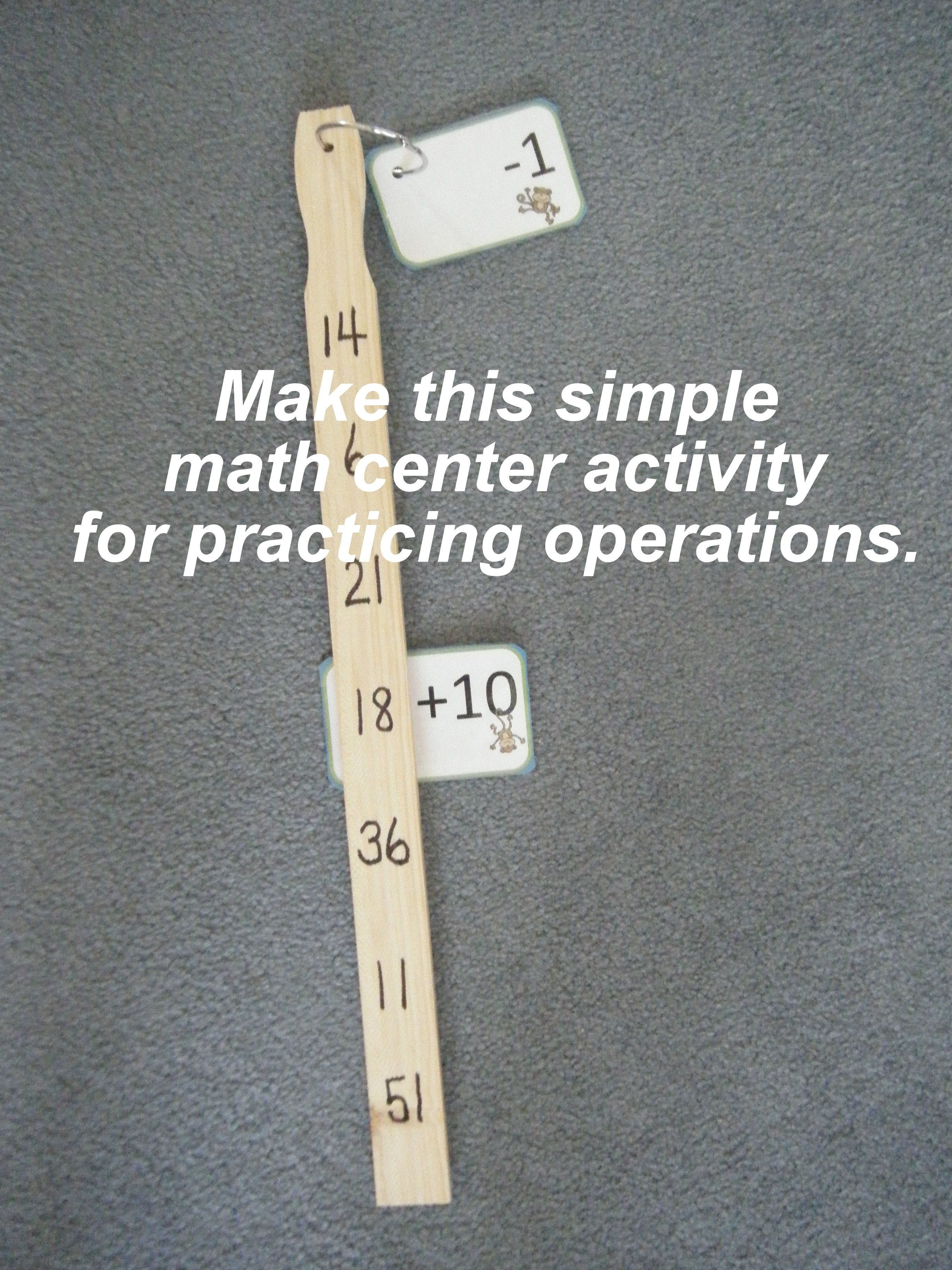Pick Up And Go Math Center