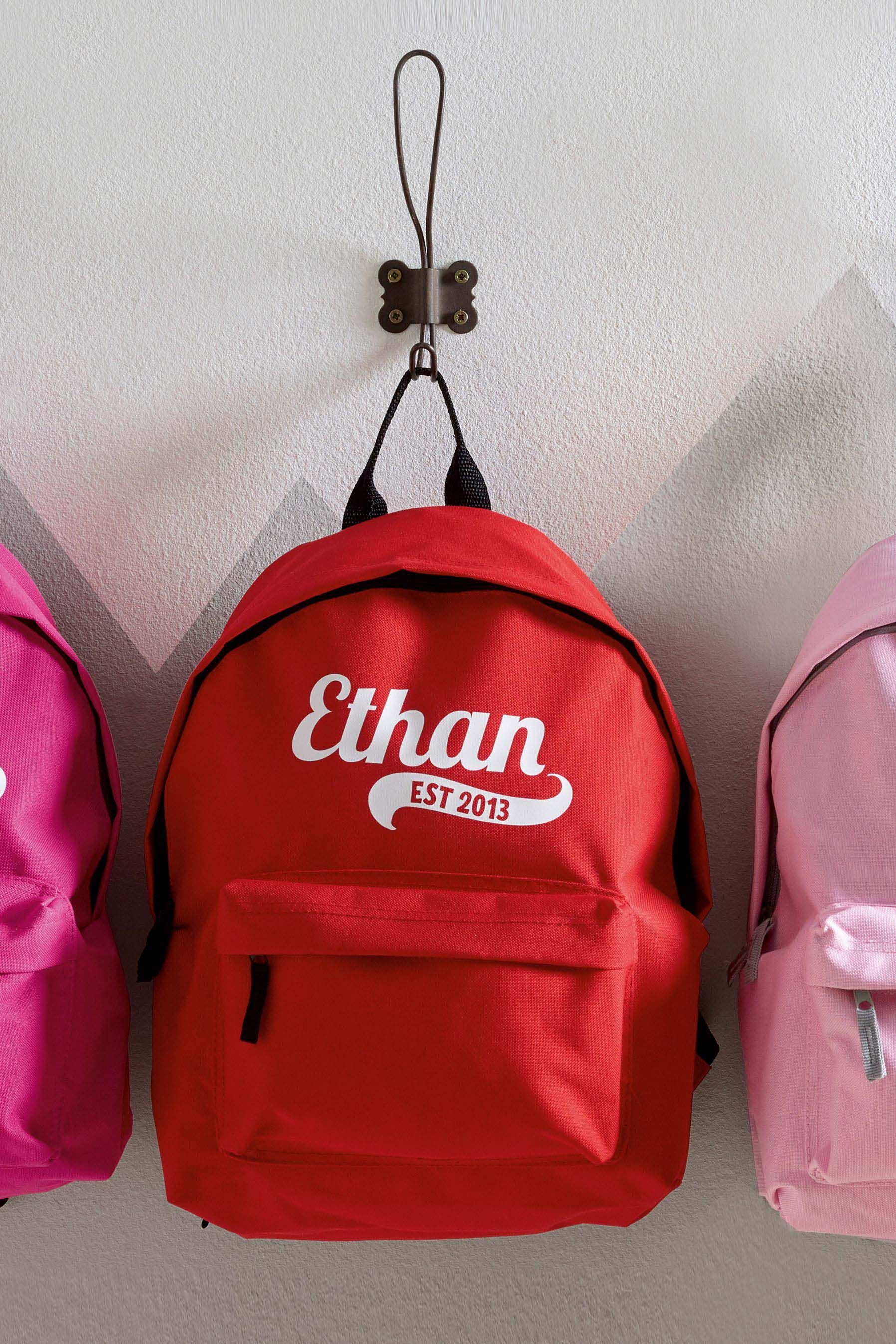 ea28a788f2 Boys Personalised Red Backpack by Loveabode - Red