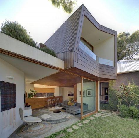 innenhof garten wohnhaus design moderne familie type de maison - facade de maison moderne