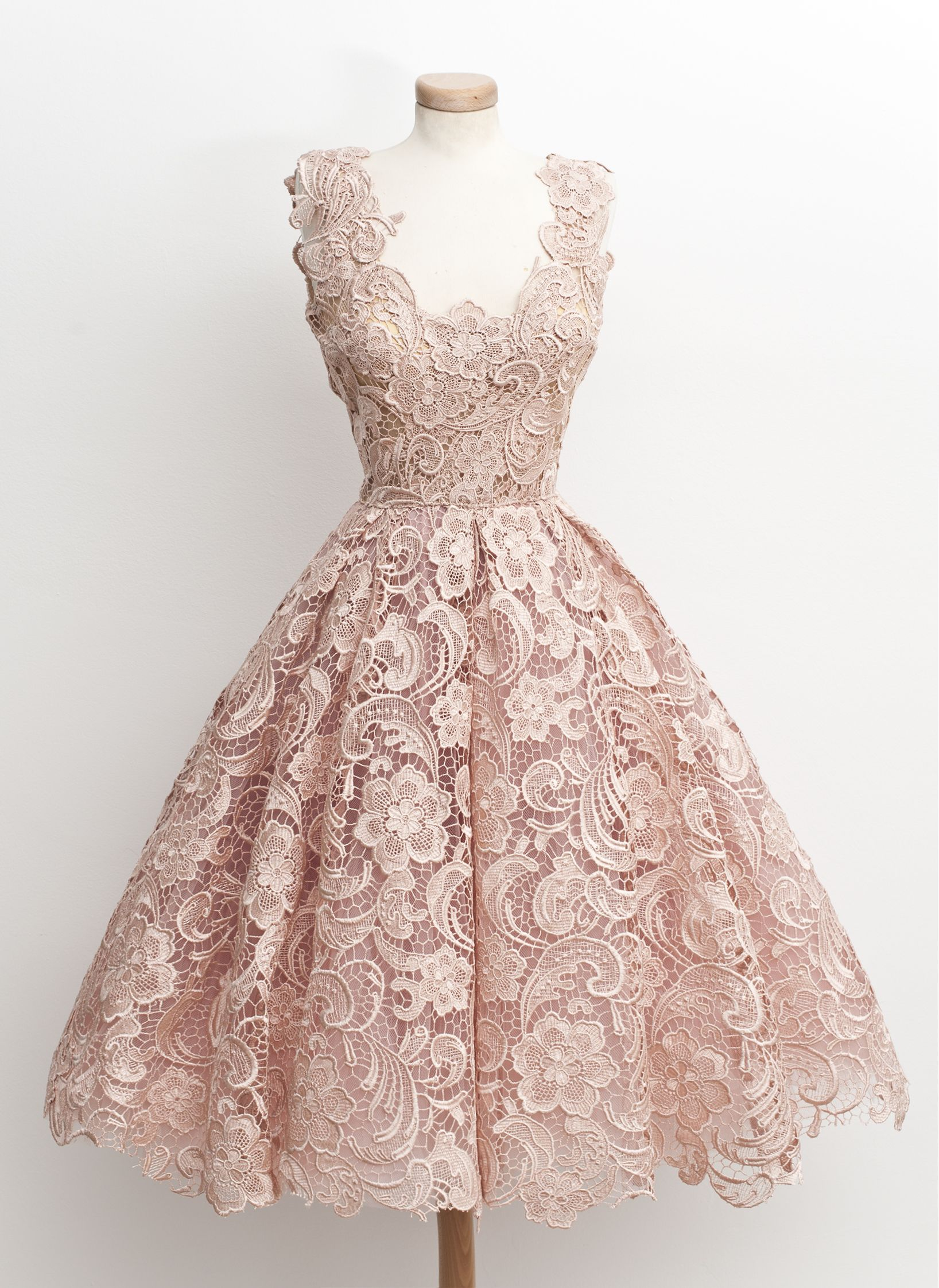Powder pink bridesmaid dress  Take  tablespoons of powder pink embroidery and mix it with