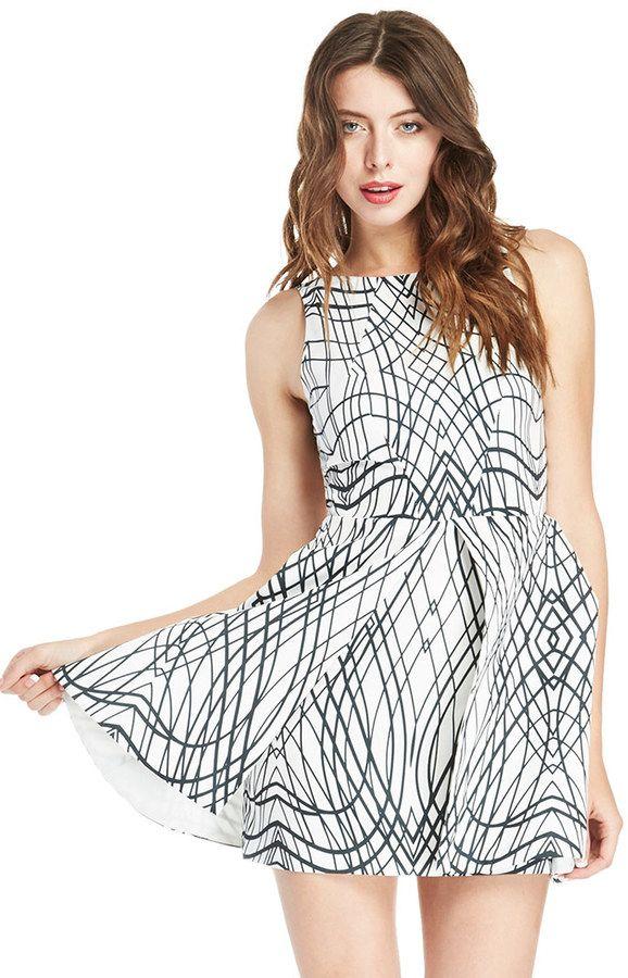 Keepsake Above The Water Dress in Black / White