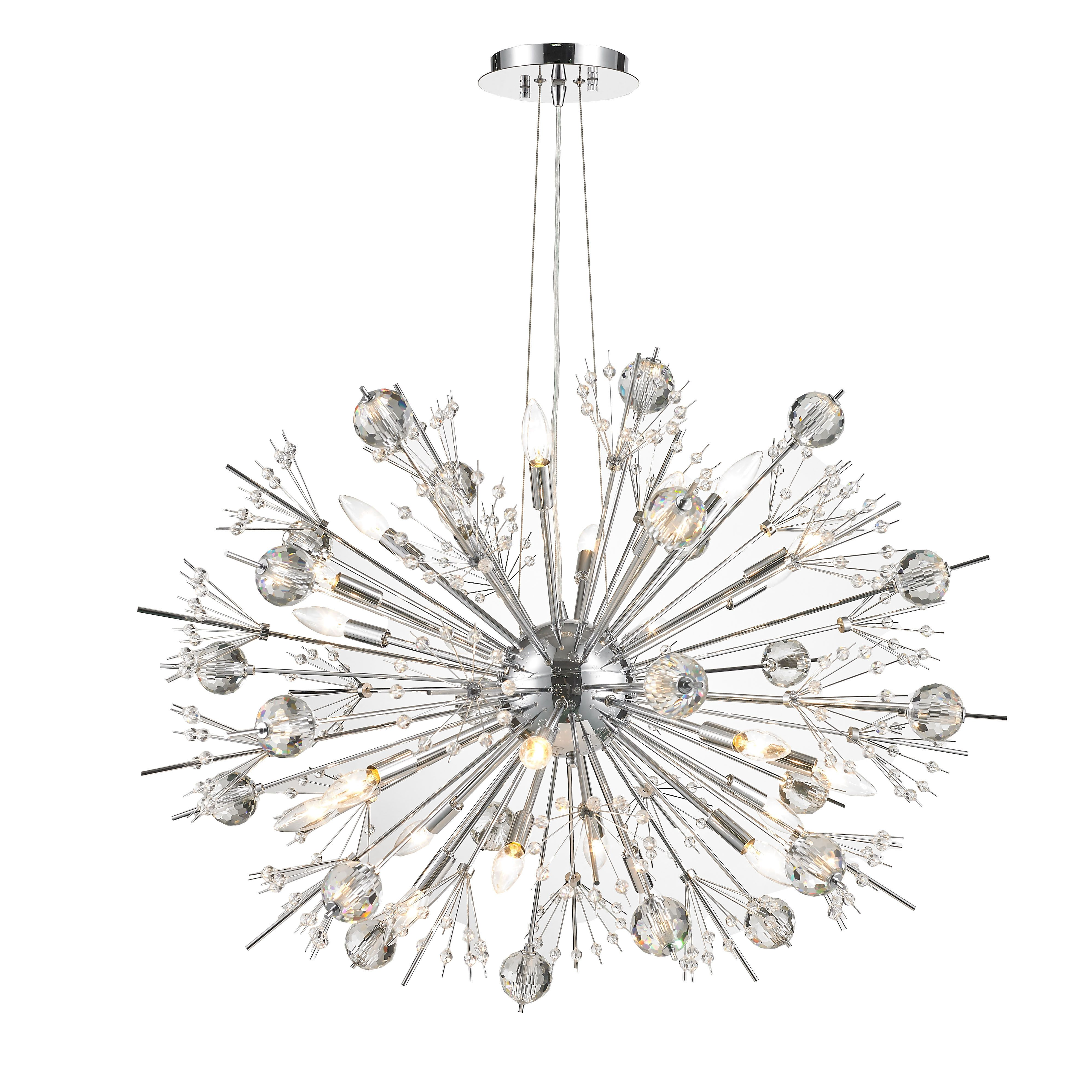 Usa Brand Starburst 24 Light Crystal 36 Sputnik Orbit Chandelier