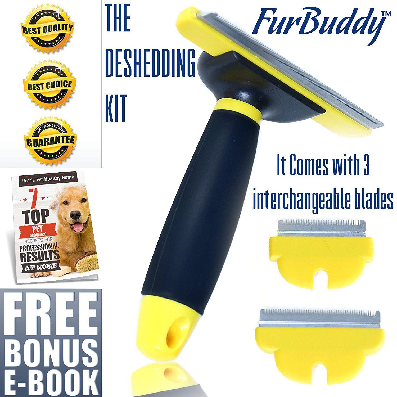 FurBuddy Pet Grooming deShedding Tool Kit Comes With 3