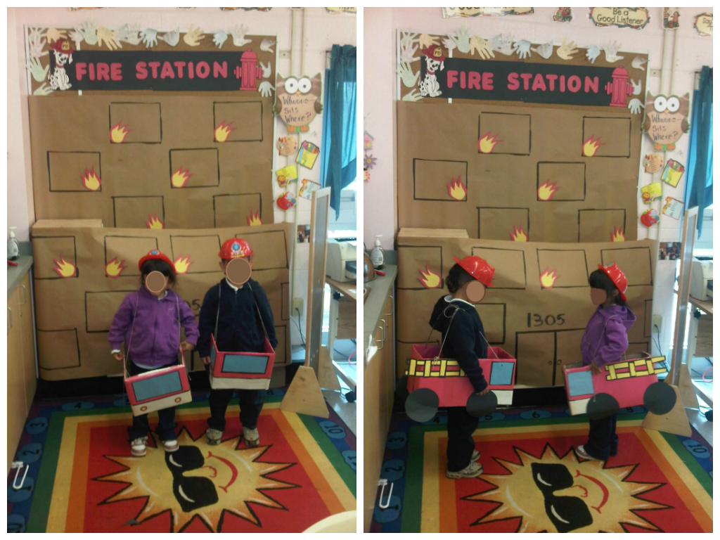 Fire station dramatic play dramatic play center for Wallpaper home center