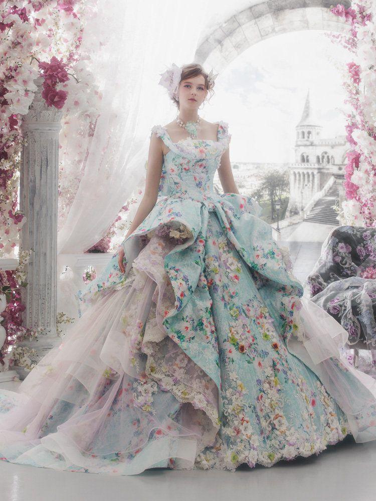 Masqurade costumes for Unique colorful wedding dresses
