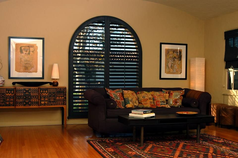 Pin On Arched Plantation Shutters #shutters #in #living #room