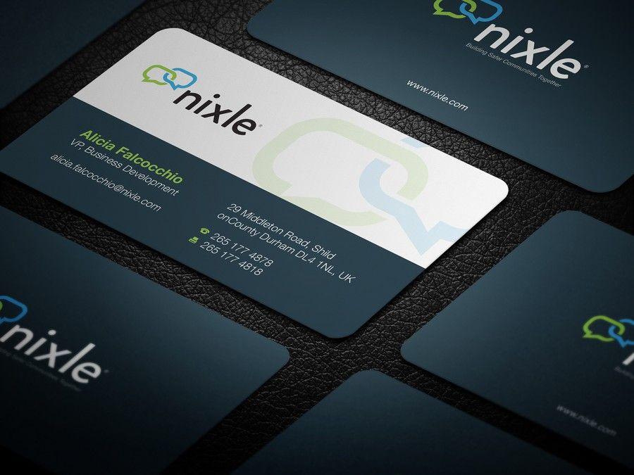 Business card based on logo for largest neighborhood network website ...