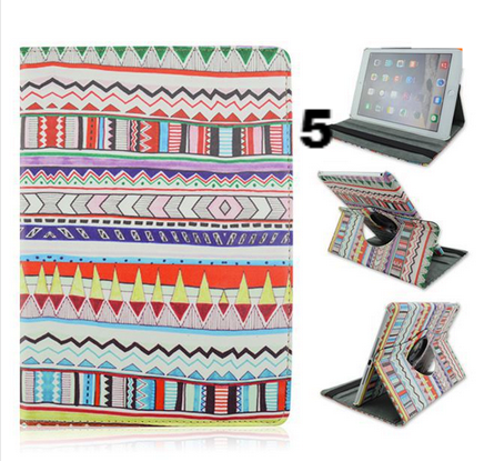iPad Air 2 - Stunning Aztec Design, 360° Rotating Case in Assorted Colors