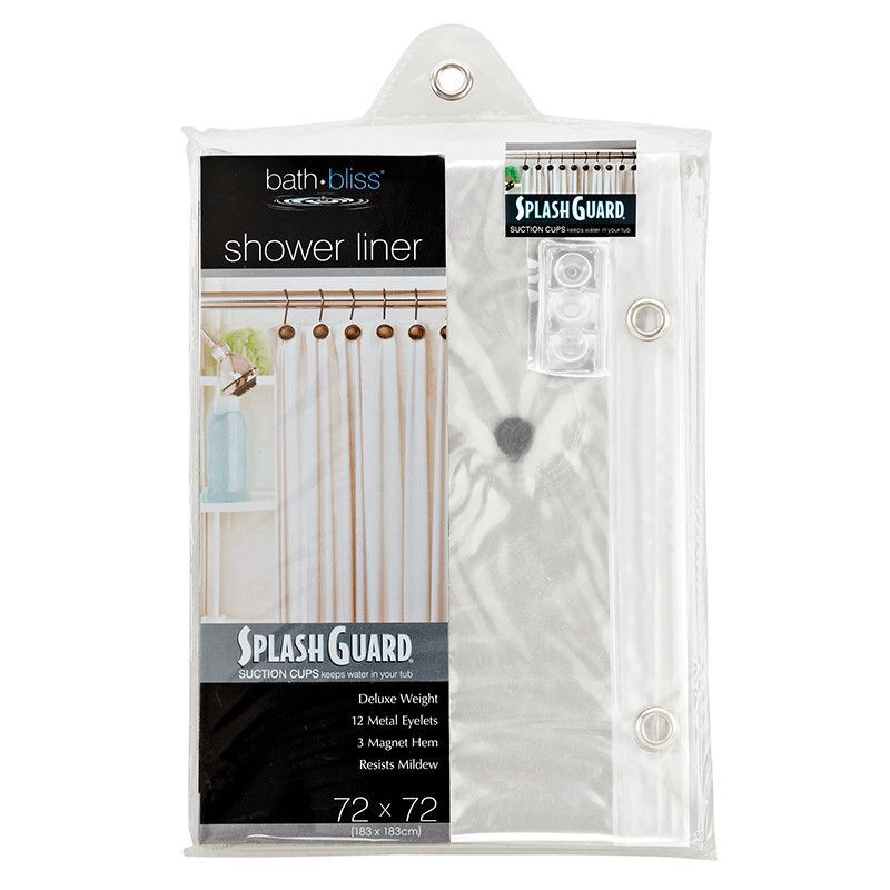 Bath Bliss Splash Guard Shower Liner · Shower RodsShower LinerCurtains