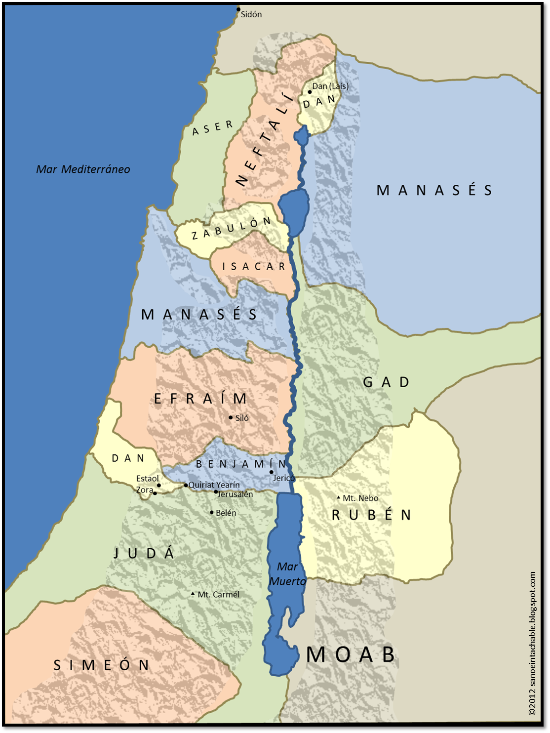 Tribus De Israel Mapa Pinterest Israel And Churches - Mapa de israel