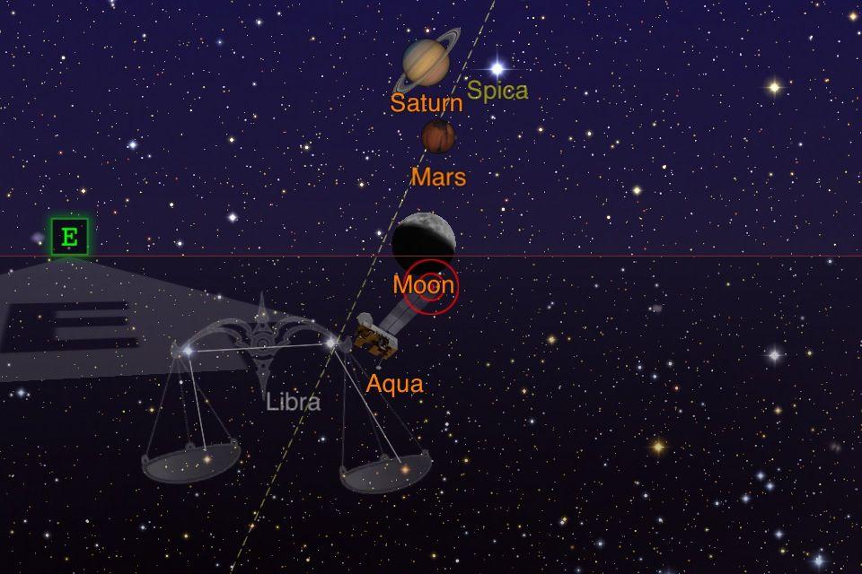 Moon rises in Virgo
