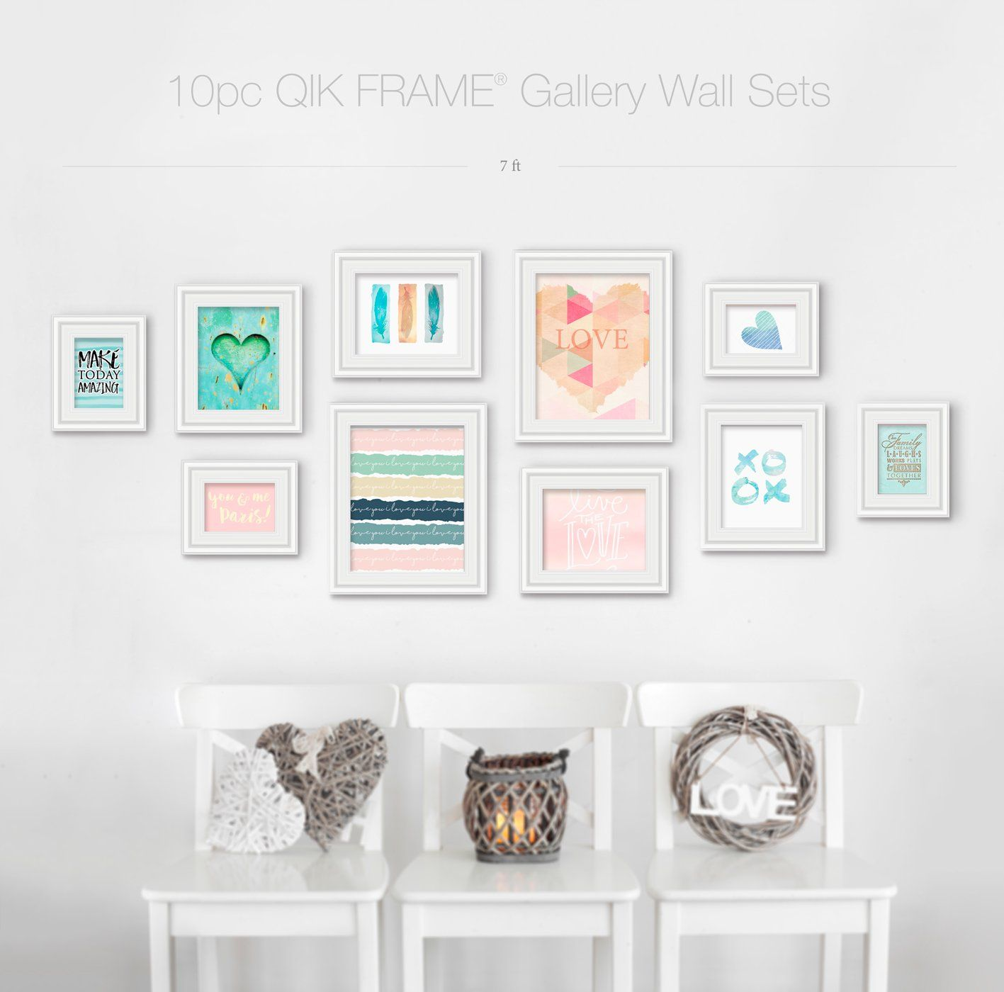 10pc Gallery Wall Set Q53 Century White Gallery Wall Frames Gallery Wall Traditional Picture Frames