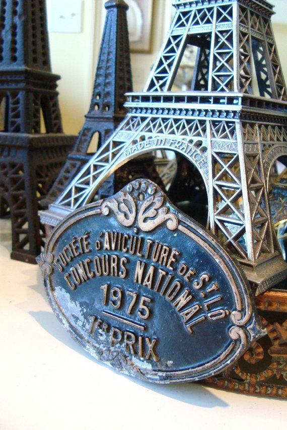 Love These French Trophy Plaques Displayed In A Kitchen Or On A