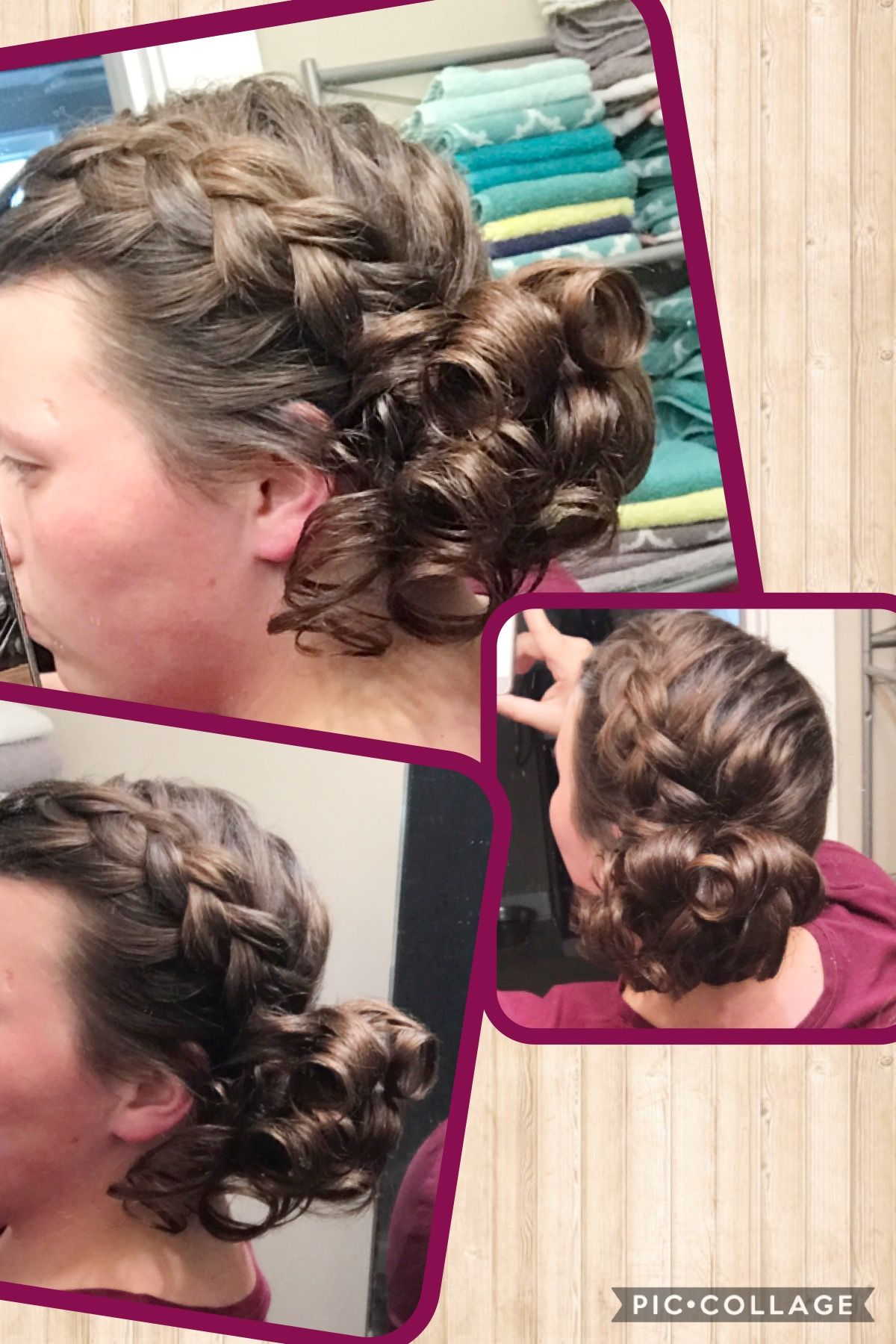 Braid with pin curls apostolic hair pentecostal