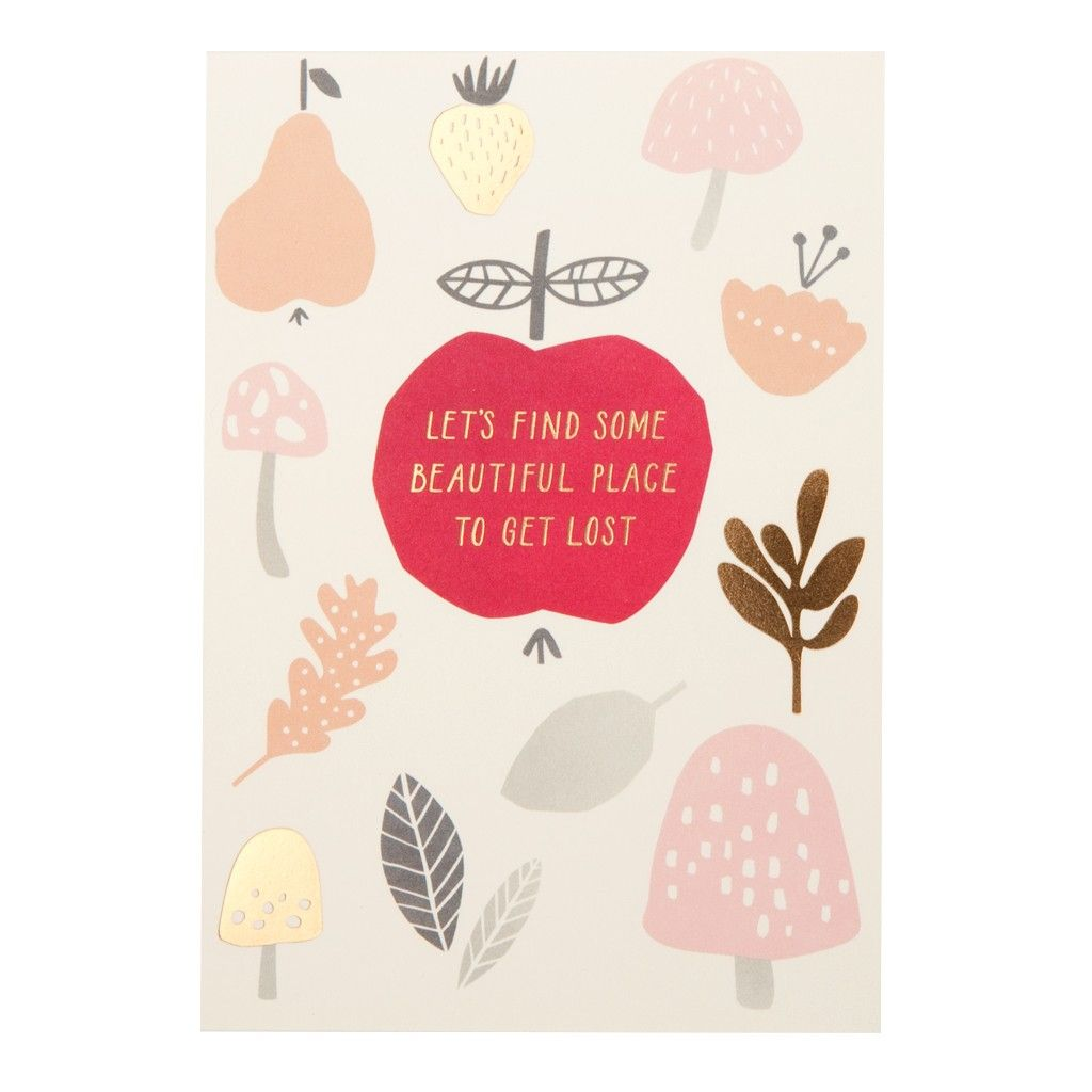 Inspire adventure and love in someone special with this unique card