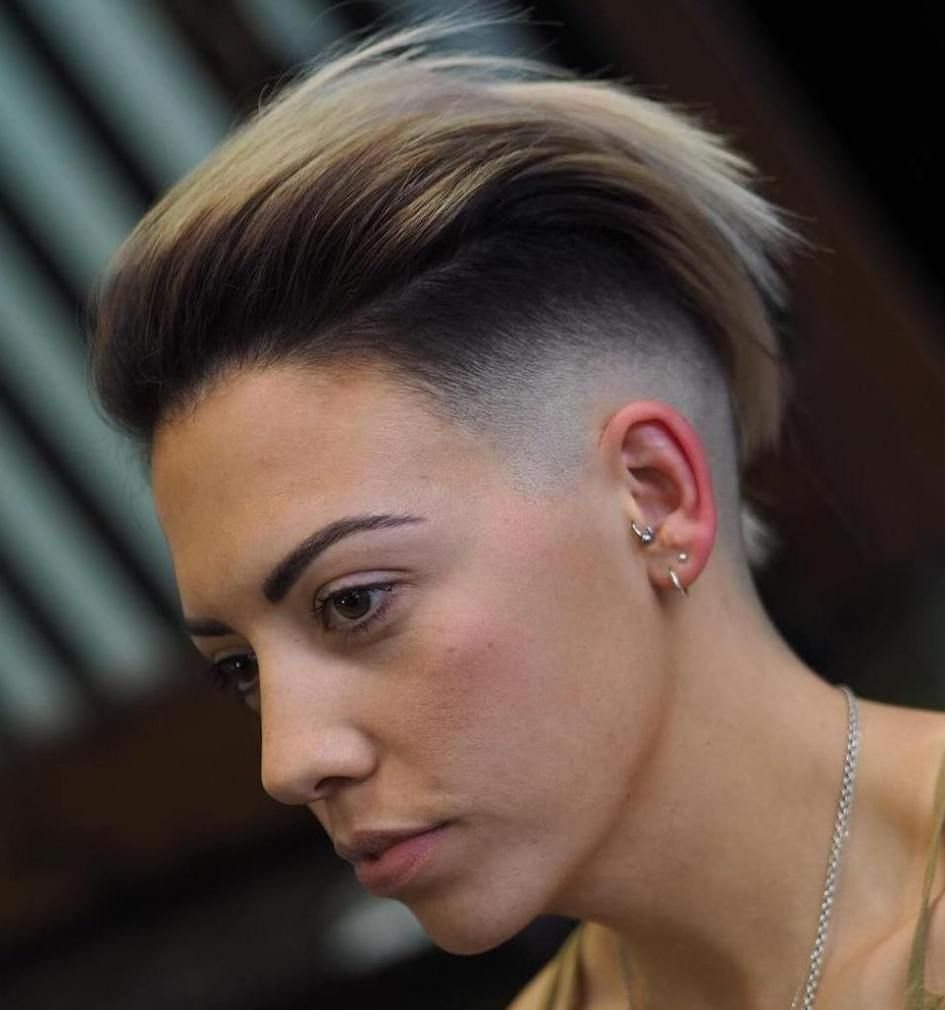 half shaved short hairstyle for women | hair & beauty that i