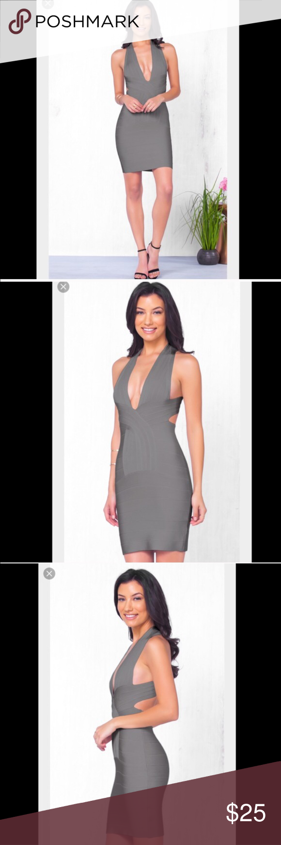Sexy grey bandage dress gray customer support and delivery