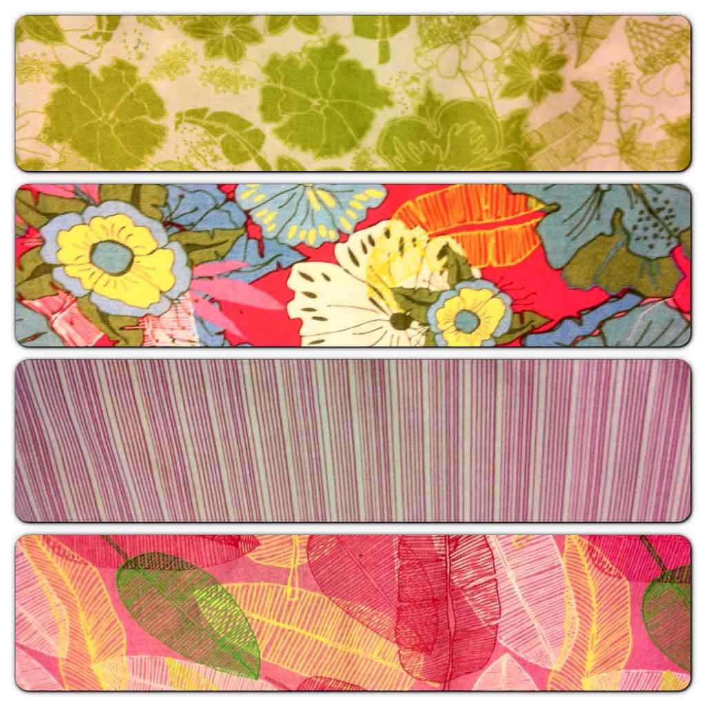 July 5 #FlareFabricsTGIF giveaway. Repin for a change to win this FQ bundle of summer fabrics by #JessicaSwift. Part of her Molokai line for #BlendFabrics.