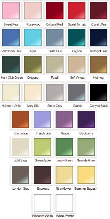 Oregano Color Chart | Rustoleum American Accents Satin Spray Paint .
