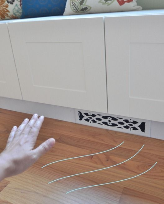 New Air Vent And Window Seat From Ikea Kitchen Cabinets