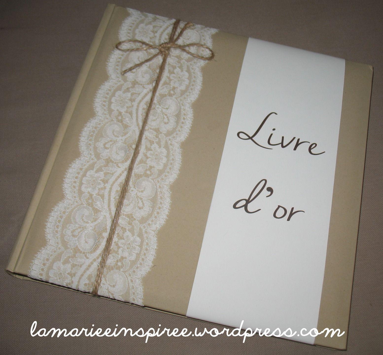 livre d 39 or mariage dentelle beige et blanc faire part. Black Bedroom Furniture Sets. Home Design Ideas