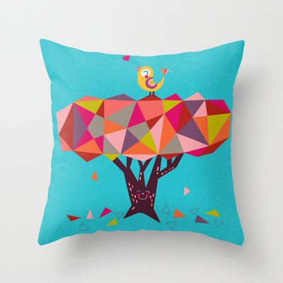 Tweet, Tweet Cushion on Society6 by Jill Howarth!