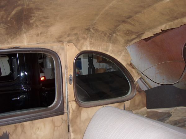 1940 Ford 5 Window Coupe Passenger Side Door Panel Headliner And Windlace Before Lebaron Bonney Company Www Lebaronbonney Com 3