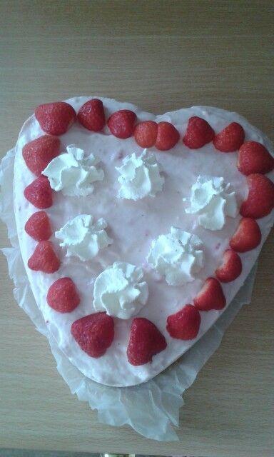 Lekker aardbeienkwarktaart