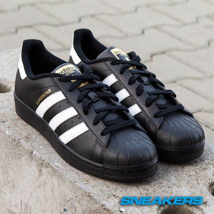 adidas superstar foundation zwart heren
