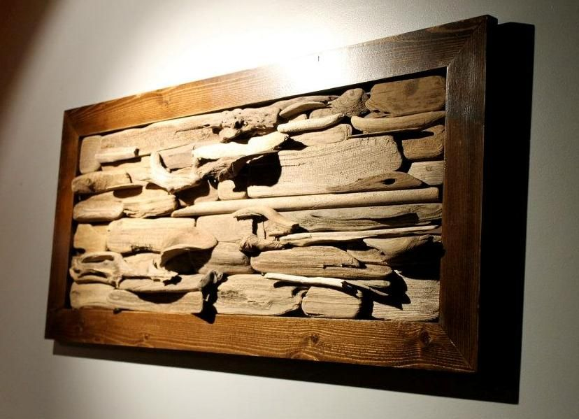 I 39 d paint the frame but i like the framed river driftwood for Driftwood wall decor