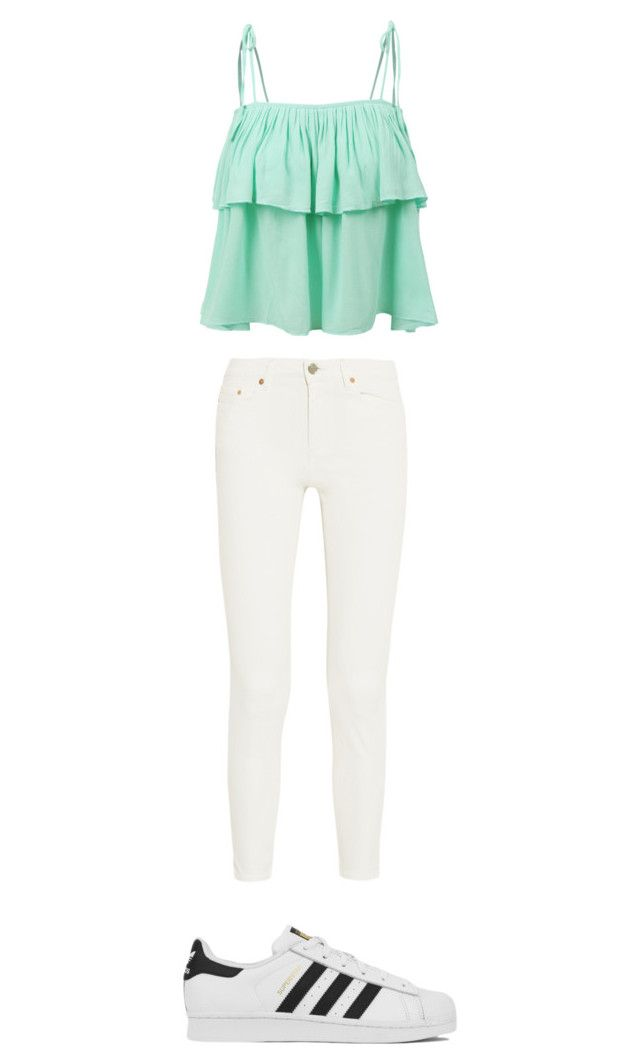 """""""Untitled #13"""" by marianacangalhas ❤ liked on Polyvore featuring LE3NO, Acne Studios and adidas"""