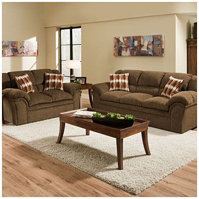 Simmons Verona Chocolate Chenille Living Room collection at Big