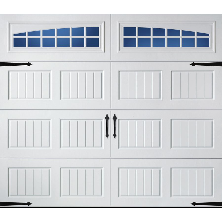 Carriage House 96 In X 84 In Insulated White Single Garage Door With Windows In 2019 White Garage Doors Garage Door Panels Single Garage Door