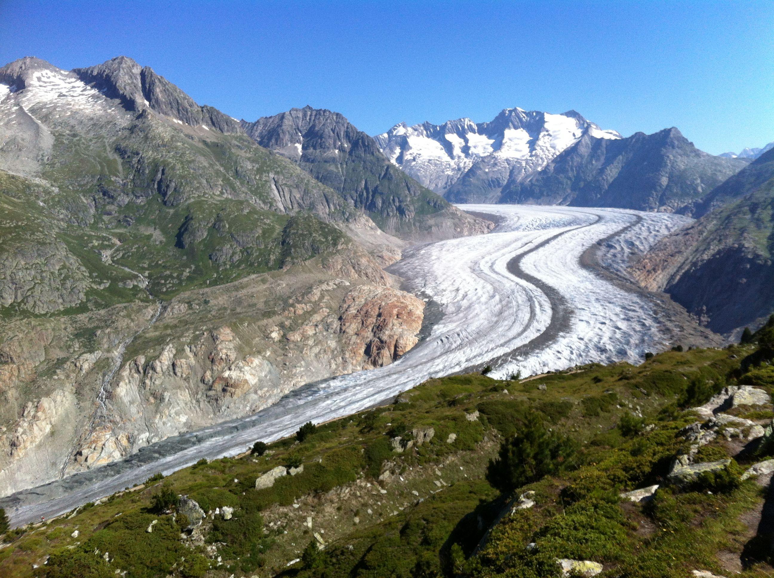 Riederalp Kanton Wallis Aletsch Glacier Aletsch Gletscher