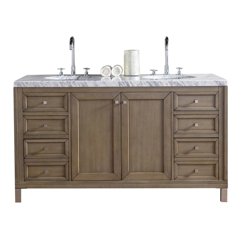 James Martin Vanities Chicago 60 In W Double Bath Vanity In
