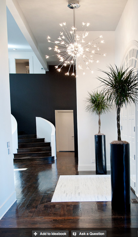 Foyer light atmosphere 360 love the black wall