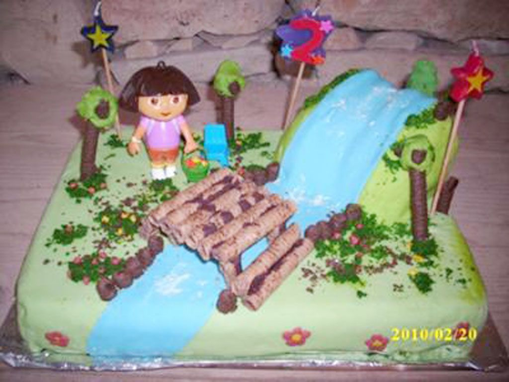 Dora Explorer birthday cake Cake Decorating Pinterest
