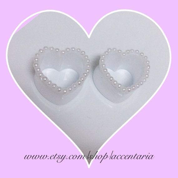 Hey, I found this really awesome Etsy listing at https://www.etsy.com/listing/155499858/pearl-heart-tunnel-plugs