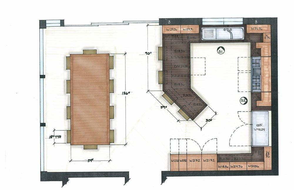 Floor Kitchen Floorplans Setting Up An Efficient Kitchen Plan