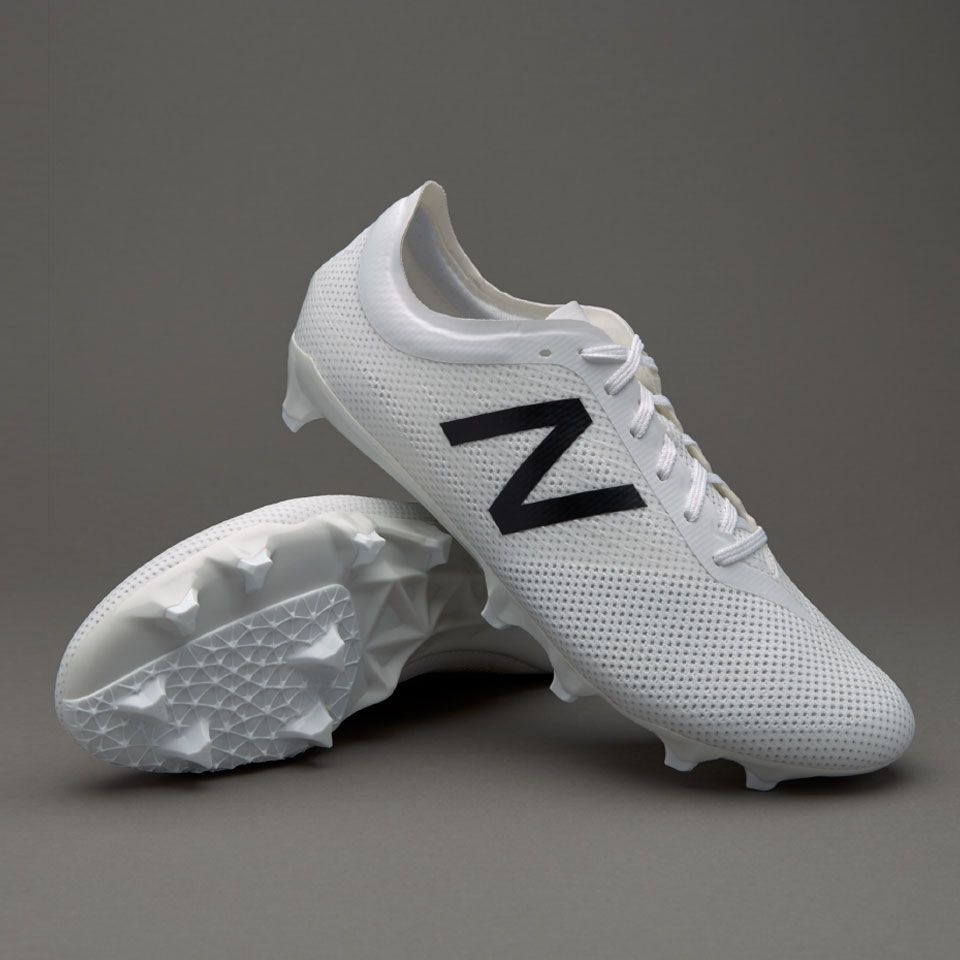 all white new balance soccer cleats