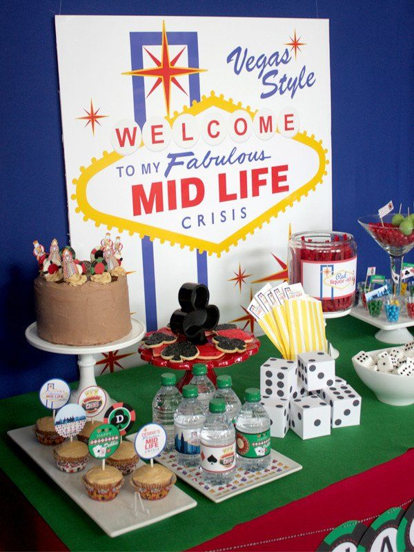 Vegas Midlife Crisis Printable Party Collection By Wants And Wishes 30th Birthday Parties