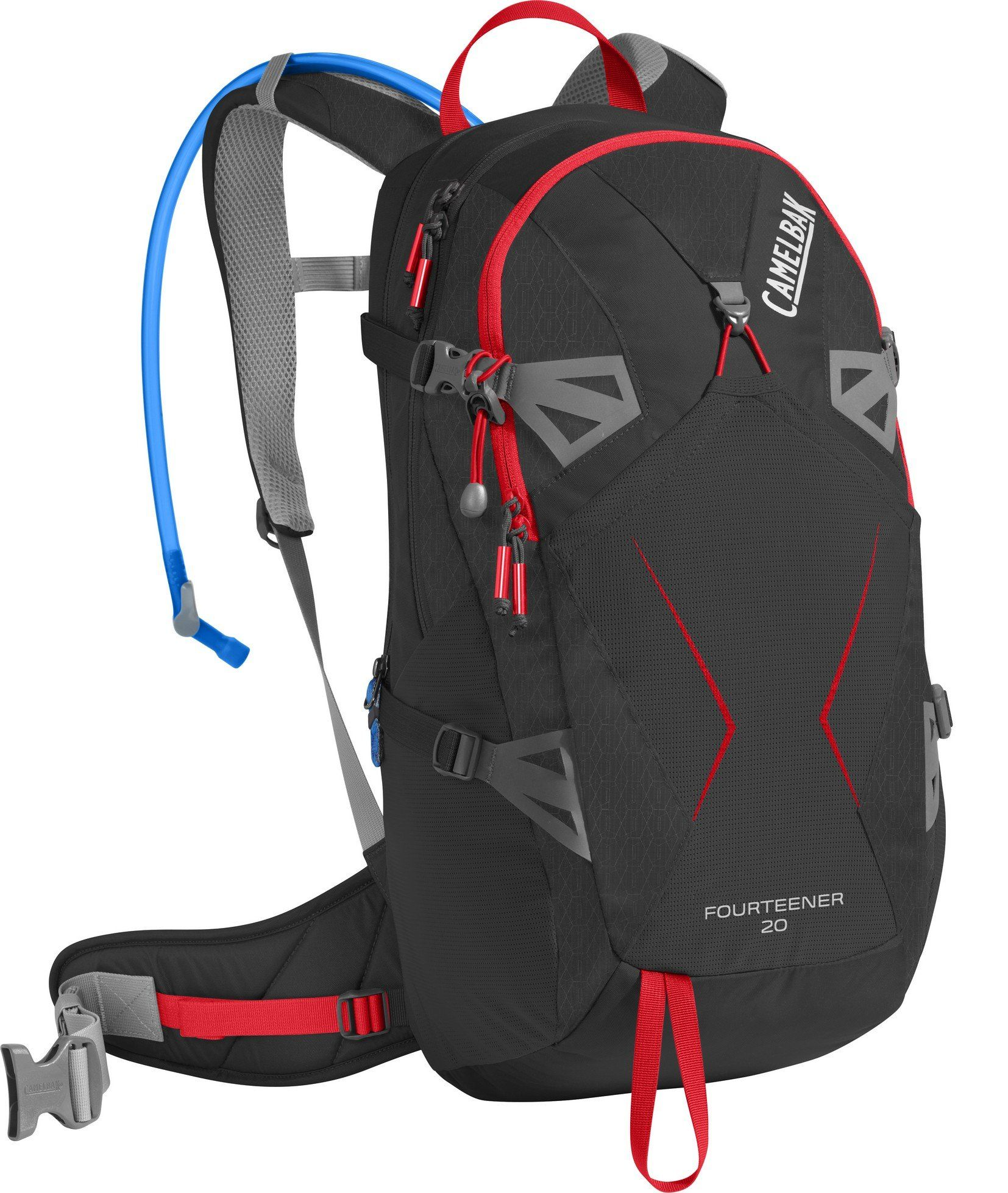 f3847aadb81 CamelBak Fourteener 20 Crux Reservoir Hydration Pack, Black/Fiery Red, 3 L/