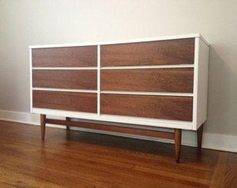Custom Refinished Mid Century Dresser
