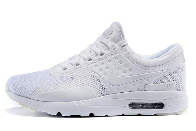 Nike Air Max Zero Os Women S Sport Shoes All White Nike Air Max Chaussure Nike Air Nike Tn Air